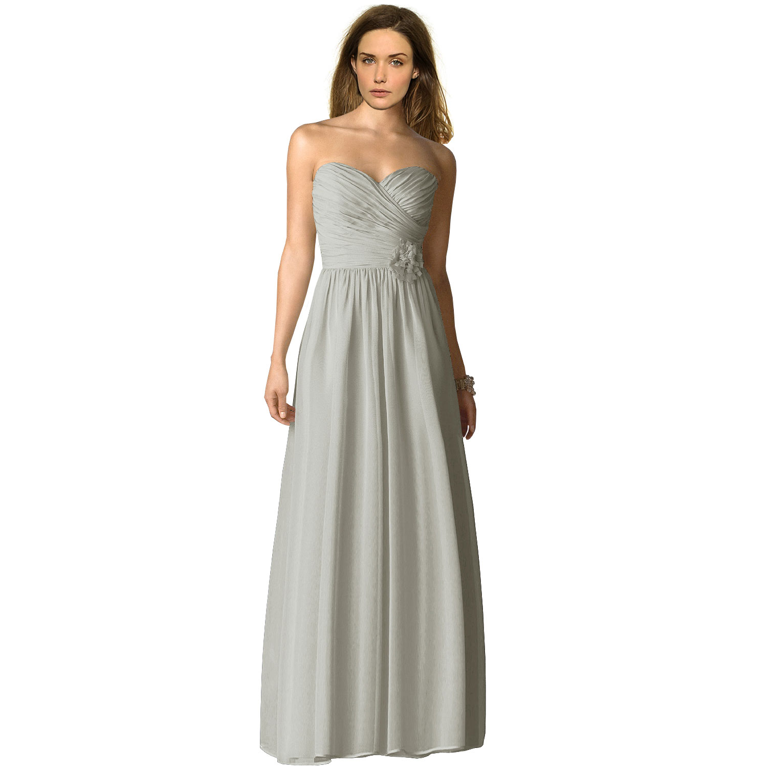 Strapless full length chiffon bridesmaids dress formal evening available colour ombrellifo Images